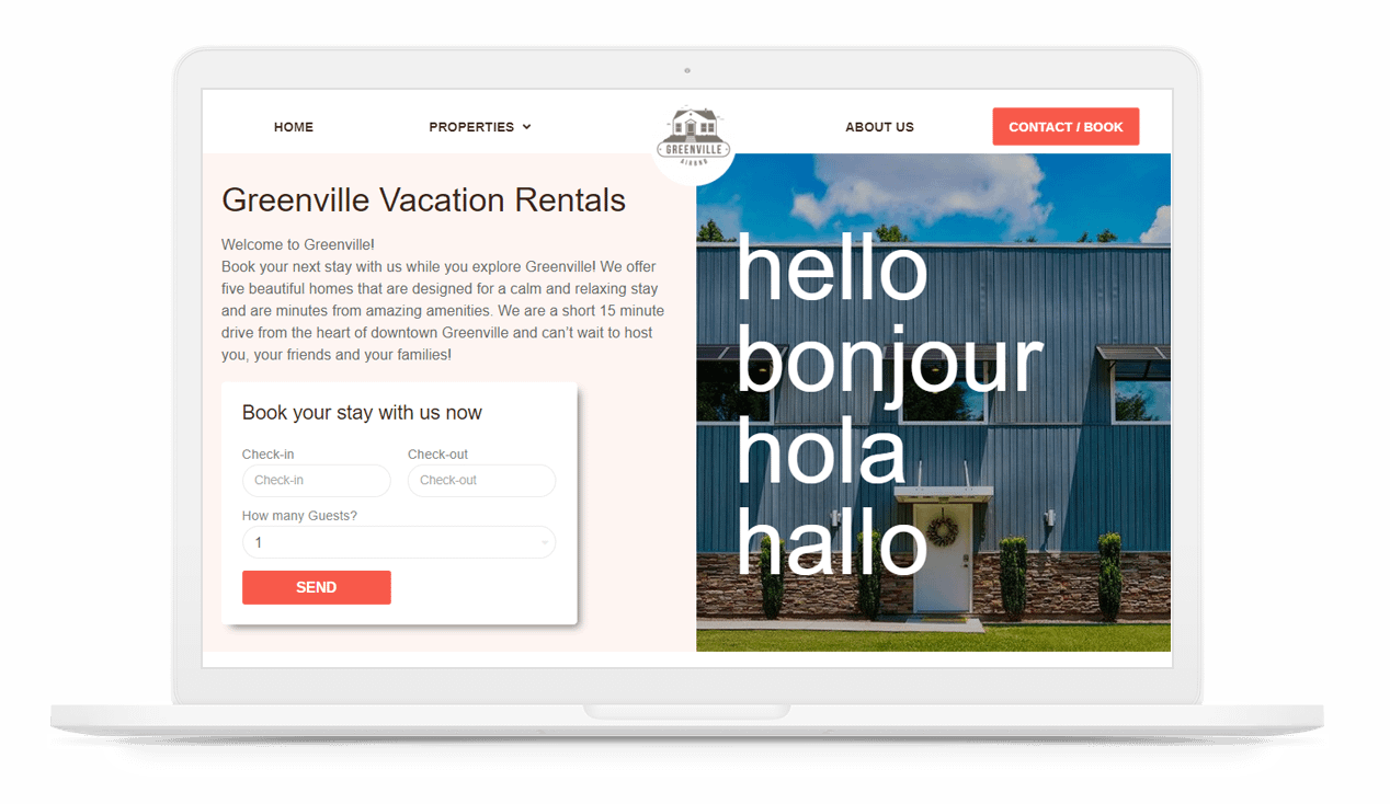 vacation rentals greenville